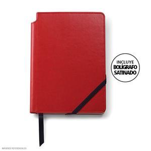 Agenda Cross Mediano Rojo + Bolígrafo Sat