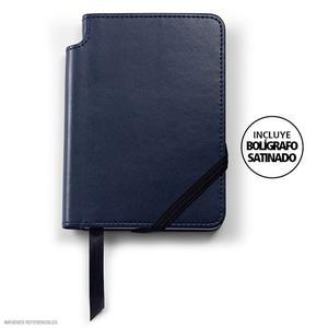 Agenda Cross Small Azul Classic + Bolígrafo Sat