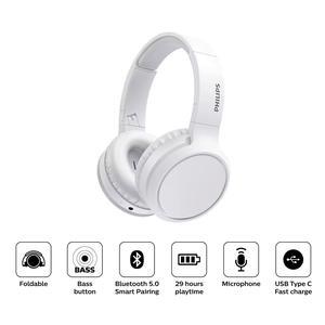 Audifono Philips Diadema On Ear Bluetooth Tah5205 Blanco