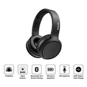 Audifono Philips Diadema On Ear Bluetooth Tah5205 Negro