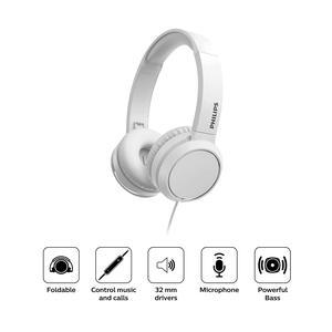 Audifono Philips Diadema On Ear Tah4105 Blanco