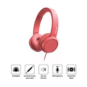 Audifono Philips Diadema On Ear Tah4105 Rojo