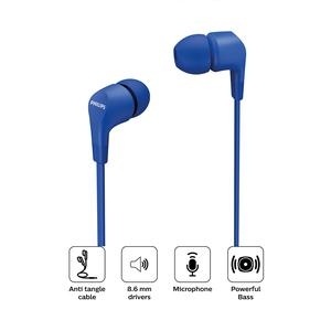 Audifono Philips In Ear Con Cable Tae1105 Azul