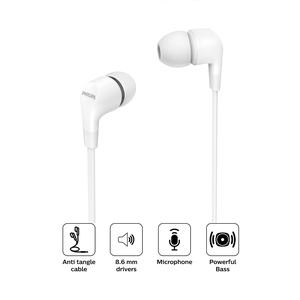 Audifono Philips In Ear Con Cable Tae1105 Blanco
