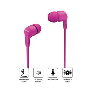 Audifono Philips In Ear Con Cable Tae1105 Rosa