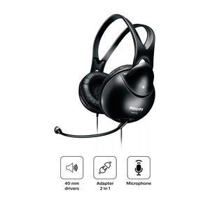 Audifono Philips Pc Con Microfono Shm1900 Negro