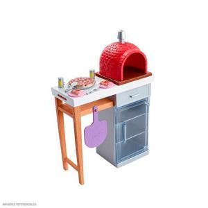 Barbie Mueble Cocina Pizzeria Con Accesorios Fxg39