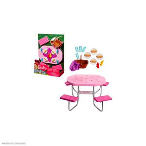 Barbie Mueble Mesa Picnic Con Accesorios Fxg40