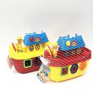 Barco De Bloques Playa Con 11 Piezas