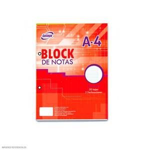 Block A4 40 Hojas Rayado College