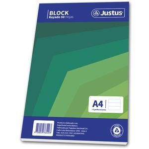 Block A4 50 Hojas Rayado Diseño Justus