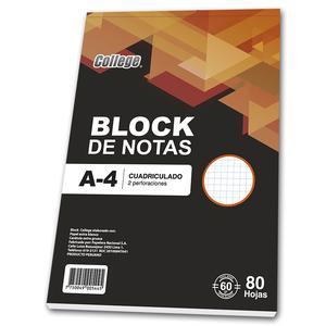 Block A4 80 Hojas Cuadriculado College