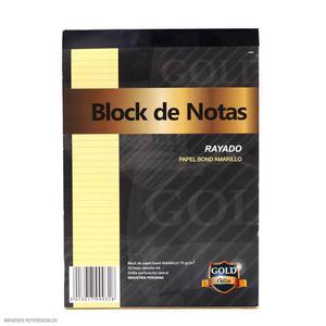 Block Amarillo A-4 50H Rayado