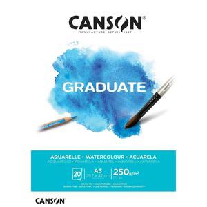 Block Aqua A3 20H 250G Graduate Canson