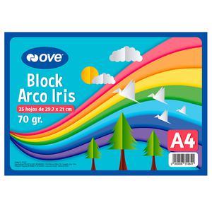 Block Arco Iris A4 25H Ove 70G