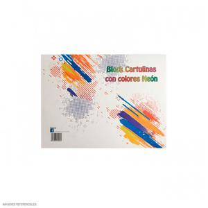 Block Cartulina Colores Neón