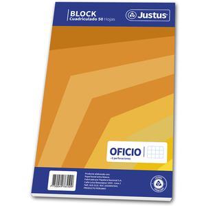 Block Oficio 50 Hojas Cuadriculado Diseño Justus