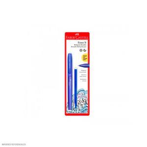 Boligrafo Faber Castell Erase It Azul + Rpto X1