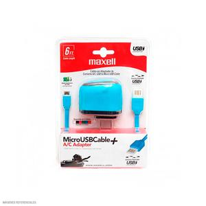 Cable Usb A Micro Usb Reversible Musb-600 Azul