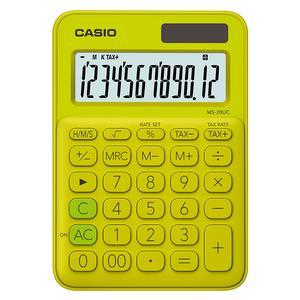 Calculadora Casio Ms-20Uc-Yg Verde Limon