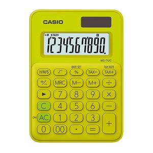 Calculadora Casio Ms-7Uc-Yg Verde Limon