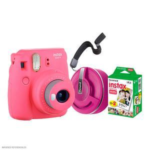 Camara Instax Mini9+Parlante+Pack20 Rosa