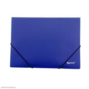 Carpeta A-4 Con Liga Plastificado Azul