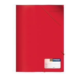 Carpeta A-4 Con Liga Plastificado Rojo Vinifan