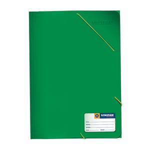 Carpeta A-4 Con Liga Plastificado Verde Vinifan