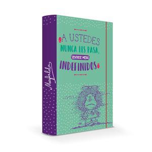 Carpeta Con Liga Carton Mafalda