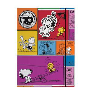 Carpeta Con Liga Carton Snoopy