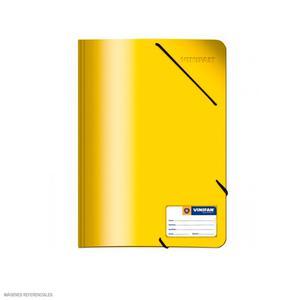 Carpeta Oficio Con Liga Plastificado Amarillo Vinifan