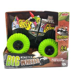 Carro Fricción 20 Cm Truck Monster Celeste