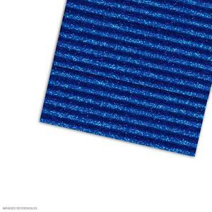 Carton Corrugado 50X70 Escarchado - Azul