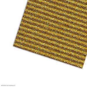 Carton Corrugado 50X70 Escarchado - Dorado