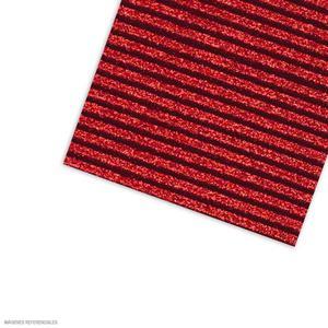 Carton Corrugado 50X70 Escarchado - Rojo