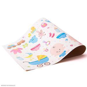 Cartulina Plastificada Pack X 2 Baby Y Corazones