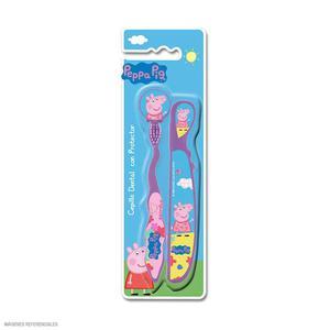 Cepillo Dental Peppa Pig Con Protector
