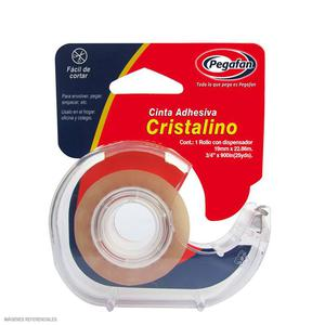 Cinta Adhesiva Cristal Con Dispensador