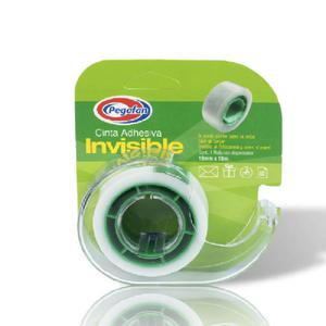 Cinta Adhesiva Pegafan Invisibl 19Mmx10M Disp