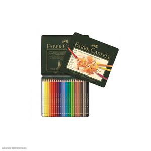 Color X 24 Polychromos Est Metal