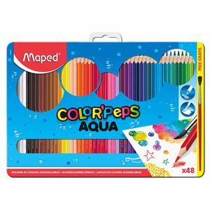 Lapices De Colores Acuarel X48 Estuc Met