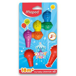 Baby Crayons X6 Color'Peps Blister