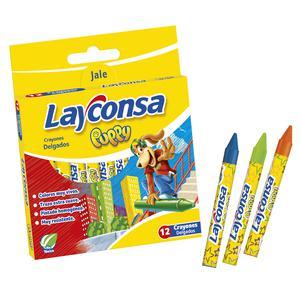 Crayones Delgados X 12 Und. Puppy