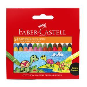 Crayones Jumbo X 24 Faber Castell