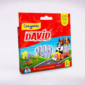 Crayones X 12 Jumbo David
