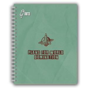 Cuaderno Anill A5 160H Dis Cuadr 6D Loro