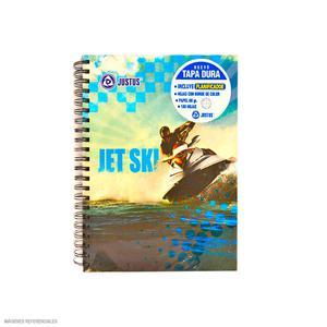 Cuaderno Anillado A-4 Cuadriculado Diseño Hombre Justus