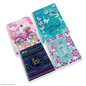 Cuaderno Anillado A-5 Cuadriculado Diseño Mujer Justus