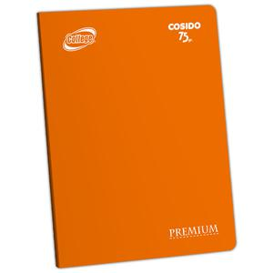 Cuaderno Deluxe A-4 80H Croly  College Naranja